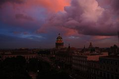 The roof of the Hotel NH Parque Central in Havana Centro had spectacular sunset views of the Capitolio, the Gran Teatro de la Habana, Hotel Inglaterra, and Hotel Telgrafo in 2008.